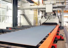 山东抛丸机:为您介绍什么是钢板预处理线?