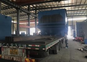 龙发抛丸机成功发货至广西南宁一台环保节能的H型钢结构抛丸机