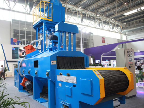 广东广州网带式抛丸机螺旋输送器的磨损修复方法